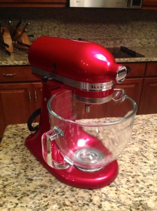 My mom's new Kitchen Aid Stand Mixer!